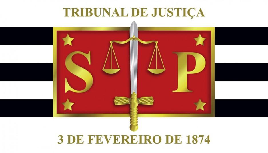 Imagem do logo da TJSP  com o texto Tribuna de Justiça  3 de fevereiro de 1874.